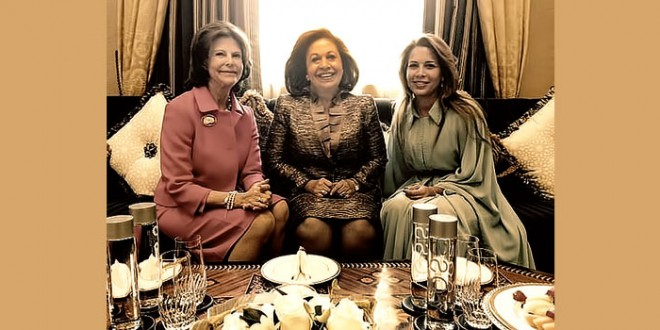 Princess Katherine at Global Child Forum in Dubai by invitation from Queen Silvia of Sweden and Princess Haya of Jordan