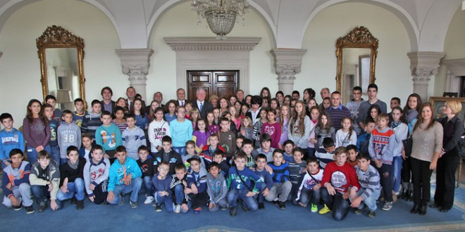 Crown Prince and Crown Princess hosted children from municipality of Kladovo flooded areas at the Royal Palace
