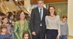 Crown Princess Katherine and HE Mr. Axel Dittmann, German Ambassador to Serbia and his wife Dr. Natalie Ebert