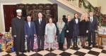 Glavni Imam beogradski ef. Ramadan Mehmedi, Nj.E. G-din Hosein Mola Abdolahi, ambasador Irana, Nj.K.V. Prestolonaslednik Aleksandar, Nj.K.V.