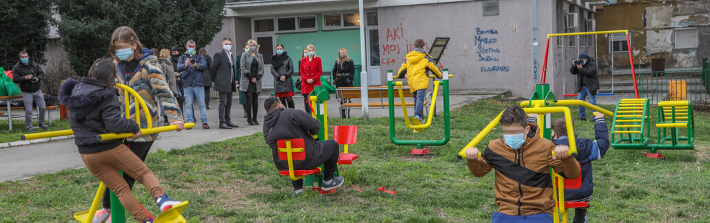 PRINCESS KATHERINE FOUNDATION PROVIDED NEW PLAYGROUND FOR DRINKA PAVLOVIC HOME FOR CHILDREN WITHOUT PARENTAL CARE