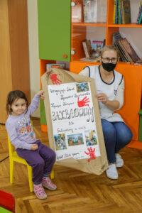 New children's library with books for Plavi Cuperak Kindergarten in Belgrade
