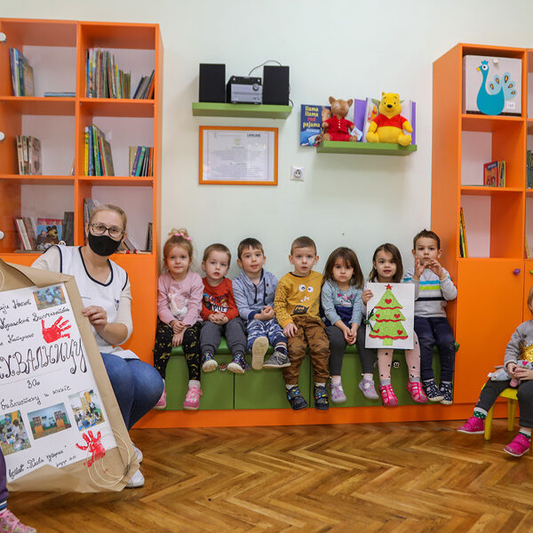 DONATION OF CHILDREN'S LIBRARY FOR KINDERGARTEN IN BELGRADE, THROUGH PRINCESS KATHERINE FOUNDATION