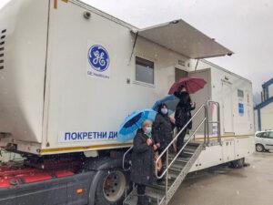 Mobile mammograph in Ivanjica