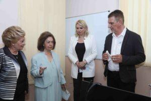 HRH Princess Katherine, Minister Darija Kisic Tepavcevic, Mr. Zoran Milacic and Mrs. Betty Roumeliotis