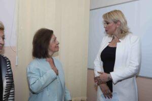 HRH Princess Katherine and Minister of Labour, Employment, Veteran and Social Affairs Prof. Dr Darija Kisić Tepavčević
