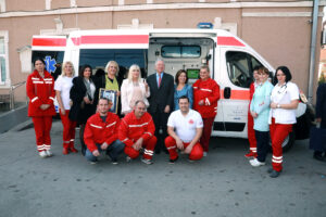The delivery of a new ambulance to the Emergency Department of the Health Center in Kruševac, November 2019