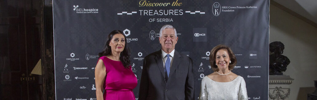 TRH CROWN PRINCE ALEXANDER AND CROWN PRINCESS KATHERINE HOST BELHOSPICE CHARITY DINNER AT THE WHITE PALACE