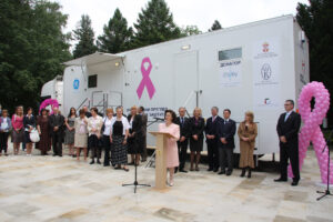Donation of the digital mobile mammography to Clinical center Niš, June 2009
